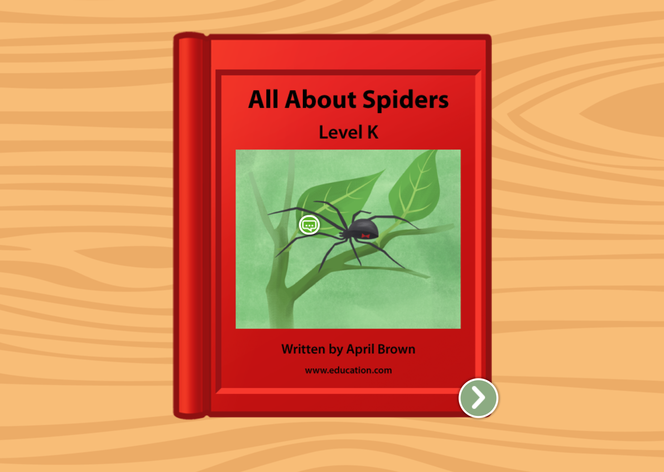 2nd grade Reading & Writing Stories: All About Spiders: Level K