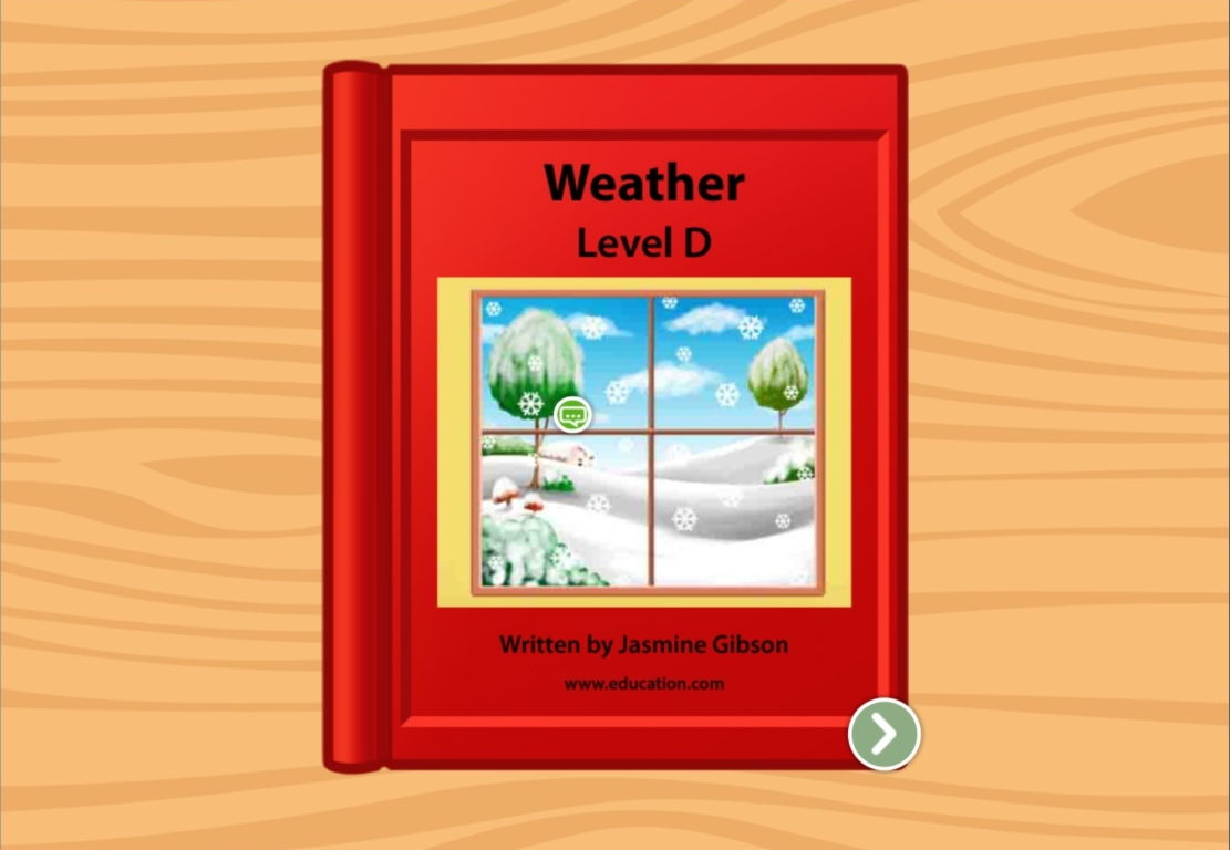 Kindergarten Reading & Writing Stories: All Kinds Of Weather: Level D