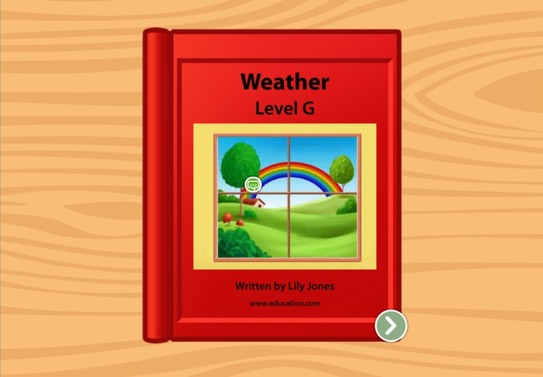 1st grade Reading & Writing Stories: All Kinds Of Weather: Level G