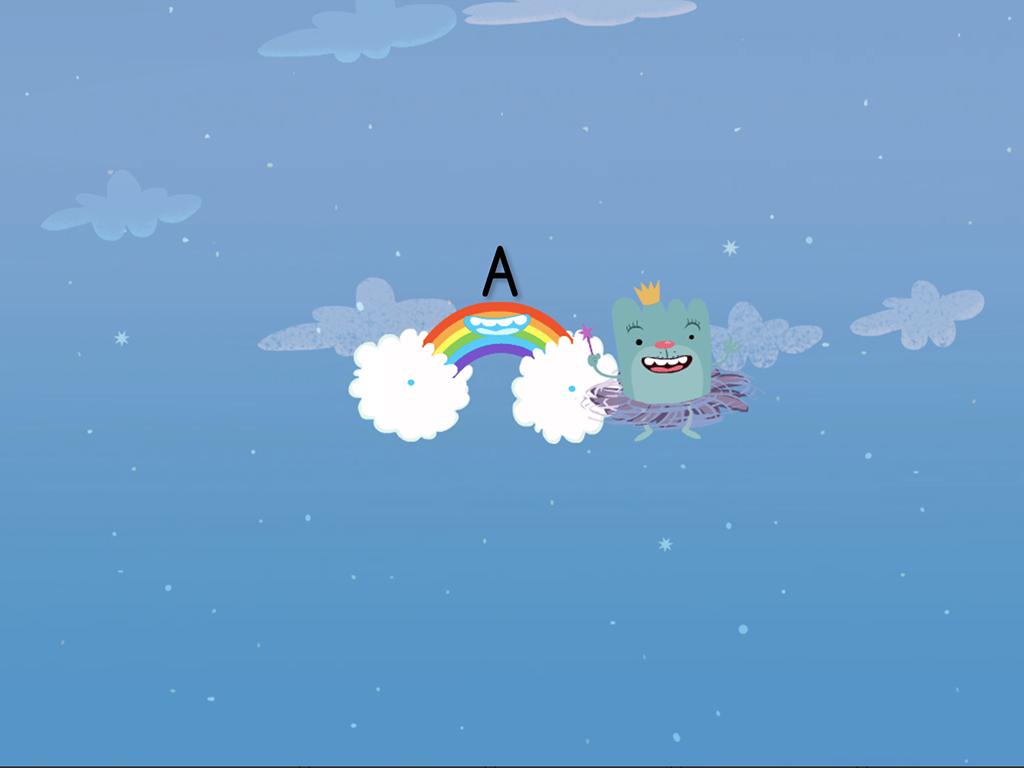 preschool Reading & Writing Games: Alphabet Cloud Catcher: A-G