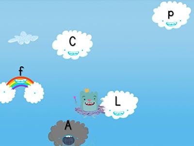 Alphabet Cloud Catcher: Lowercase Letters