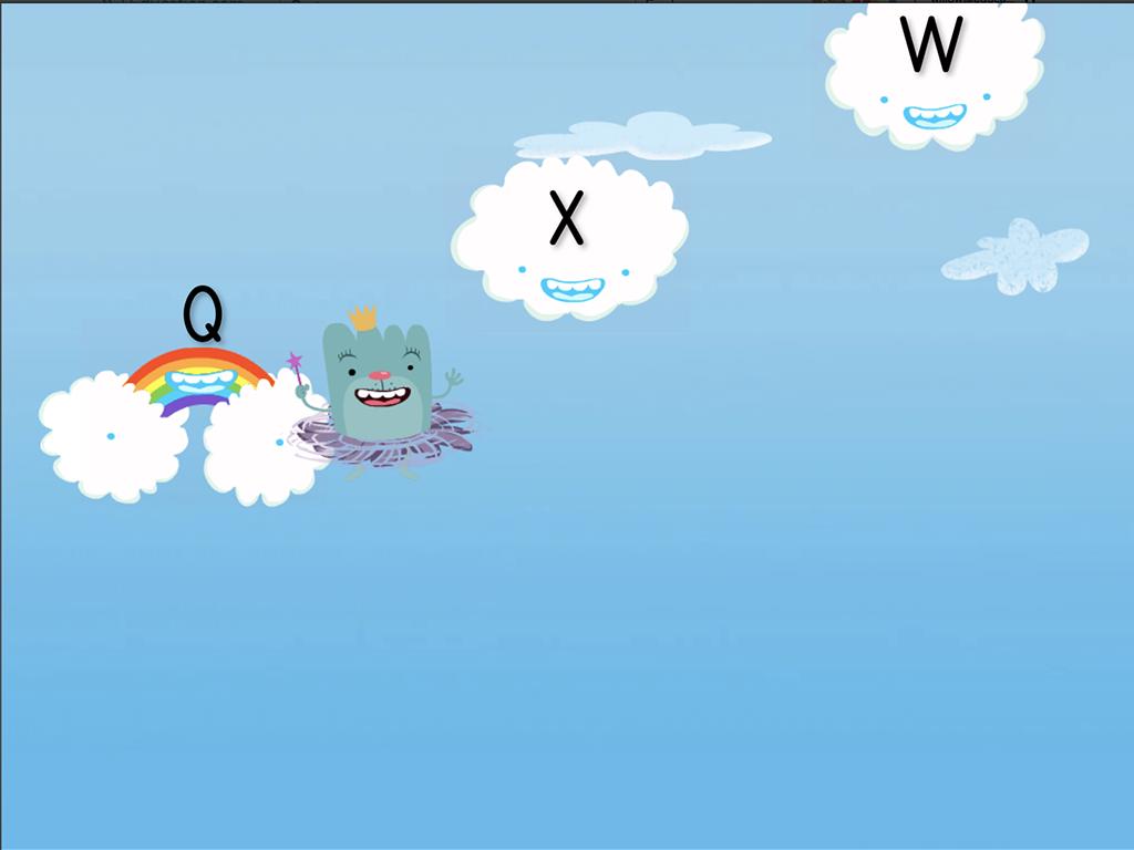preschool Reading & Writing Games: Alphabet Cloud Catcher: Q-Z