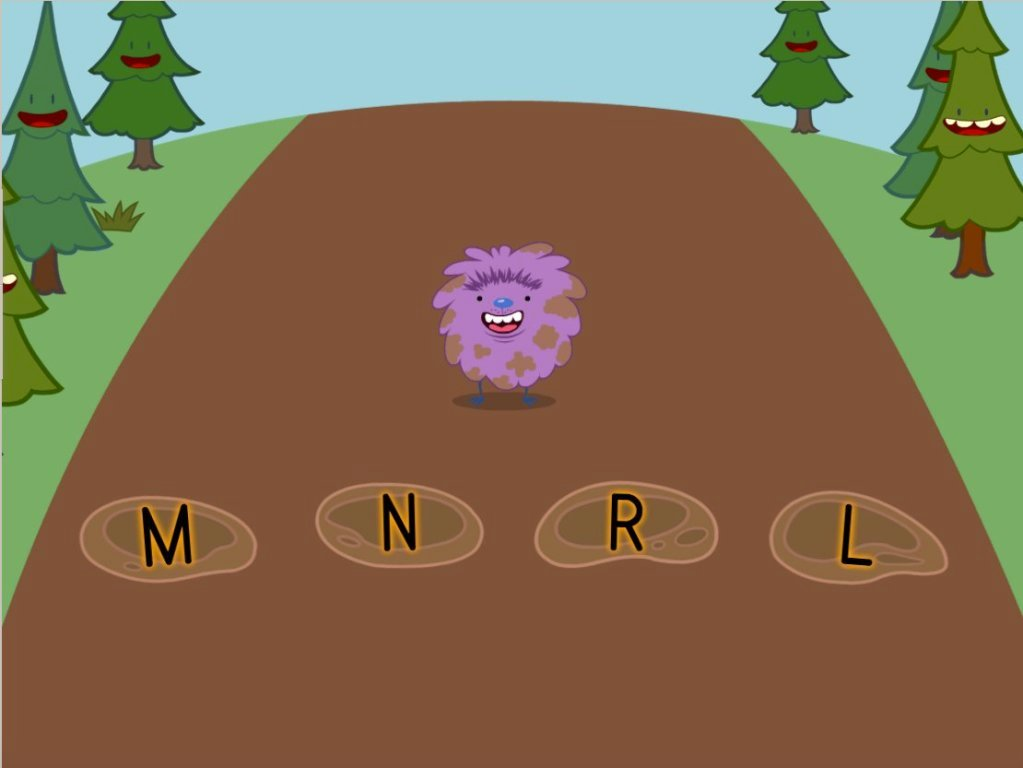 Preschool Reading & Writing Games: Alphabet Hopper: L, M, N, R
