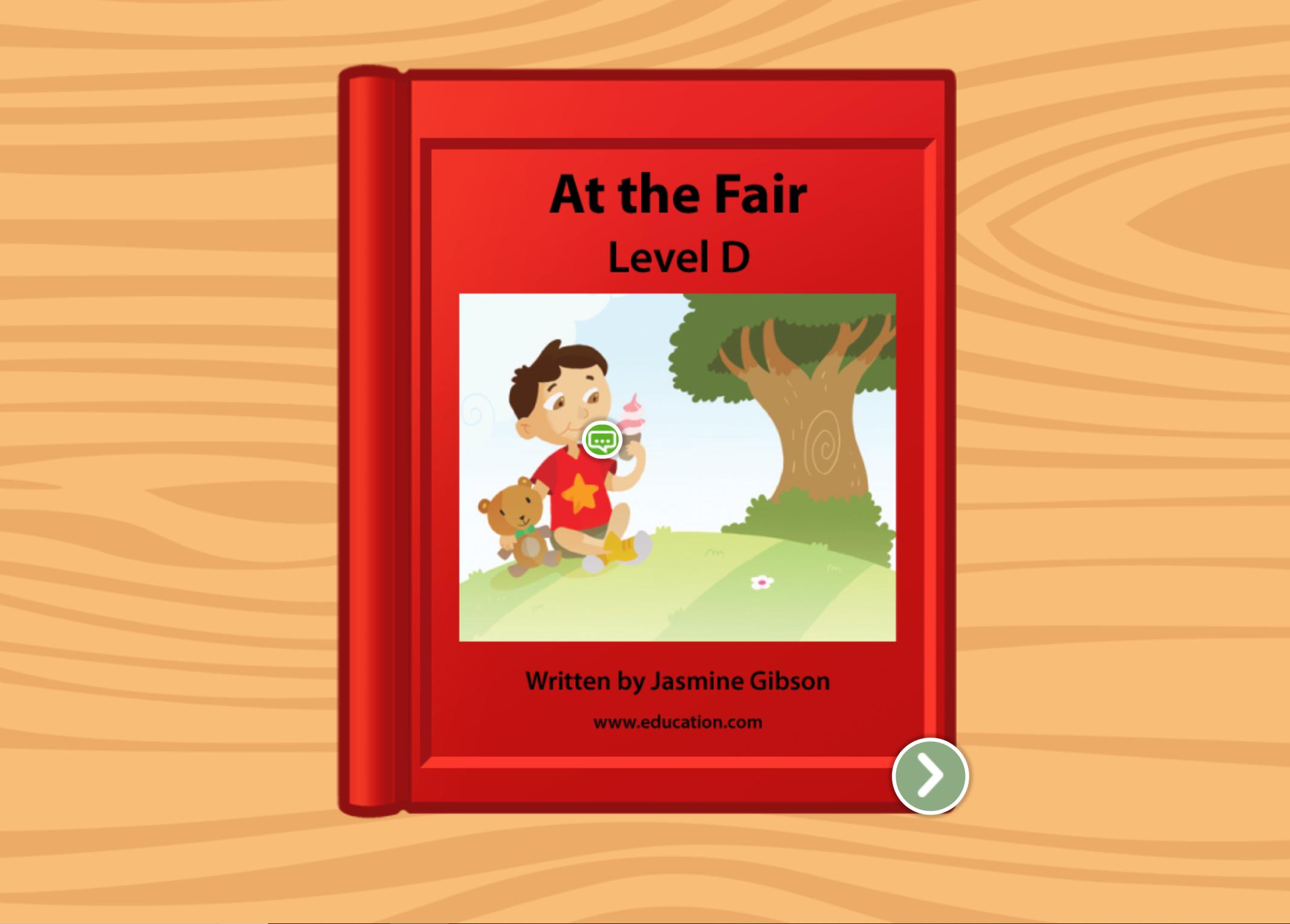 Kindergarten Reading & Writing Stories: At the Fair: Level D
