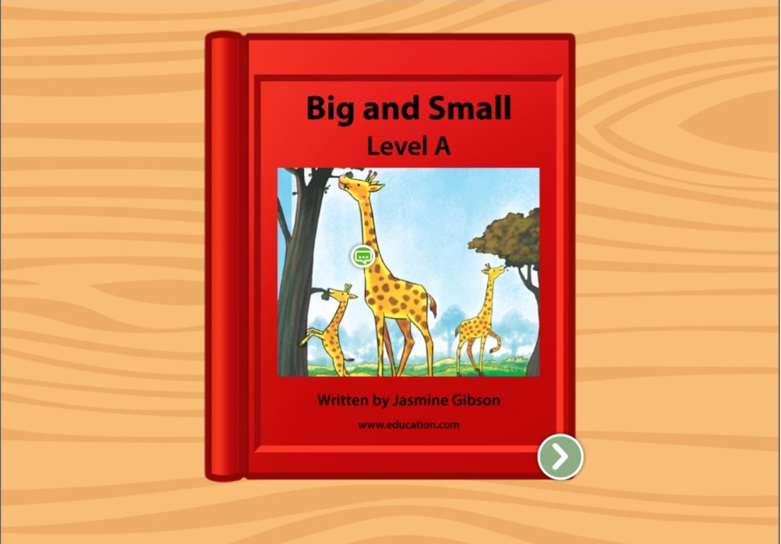 Preschool Reading & Writing Stories: Big and Small: Level A