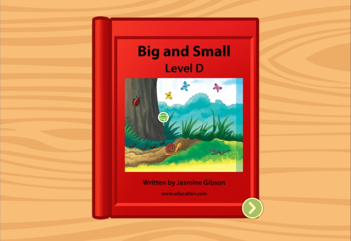 Kindergarten Reading & Writing Stories: Big and Small: Level D