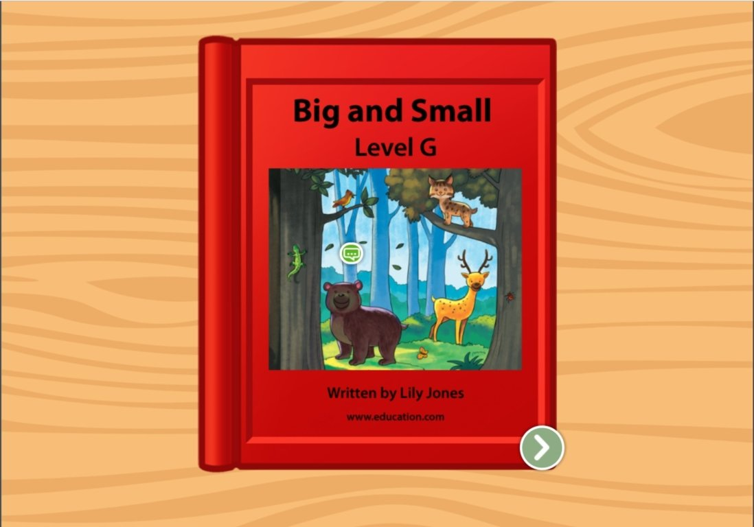 1st grade Reading & Writing Stories: Big and Small: Level G