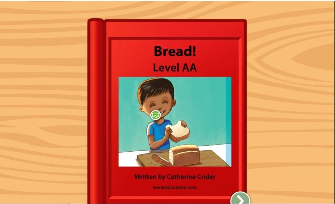 Preschool Reading & Writing Stories: Bread!: Level AA
