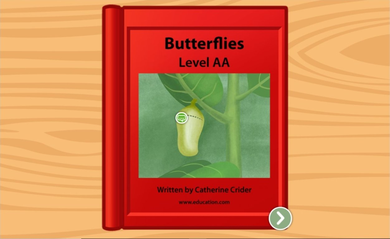 preschool Reading & Writing Stories: Butterflies: Level AA