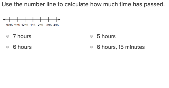 3rd grade Math Exercises: Calculating Elapsed Time on a Number Line