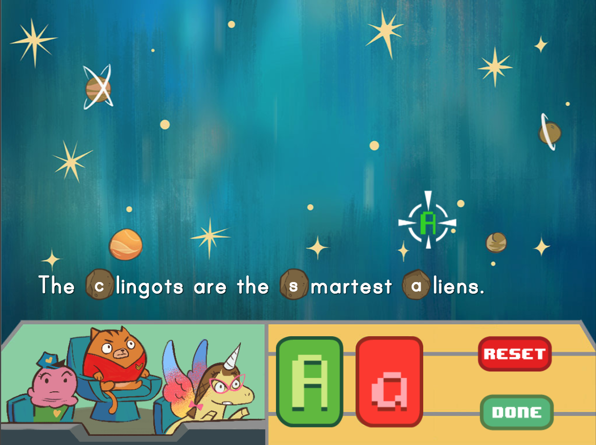 4th grade Reading & Writing Games: Capitalizing Proper Nouns: Space Edition