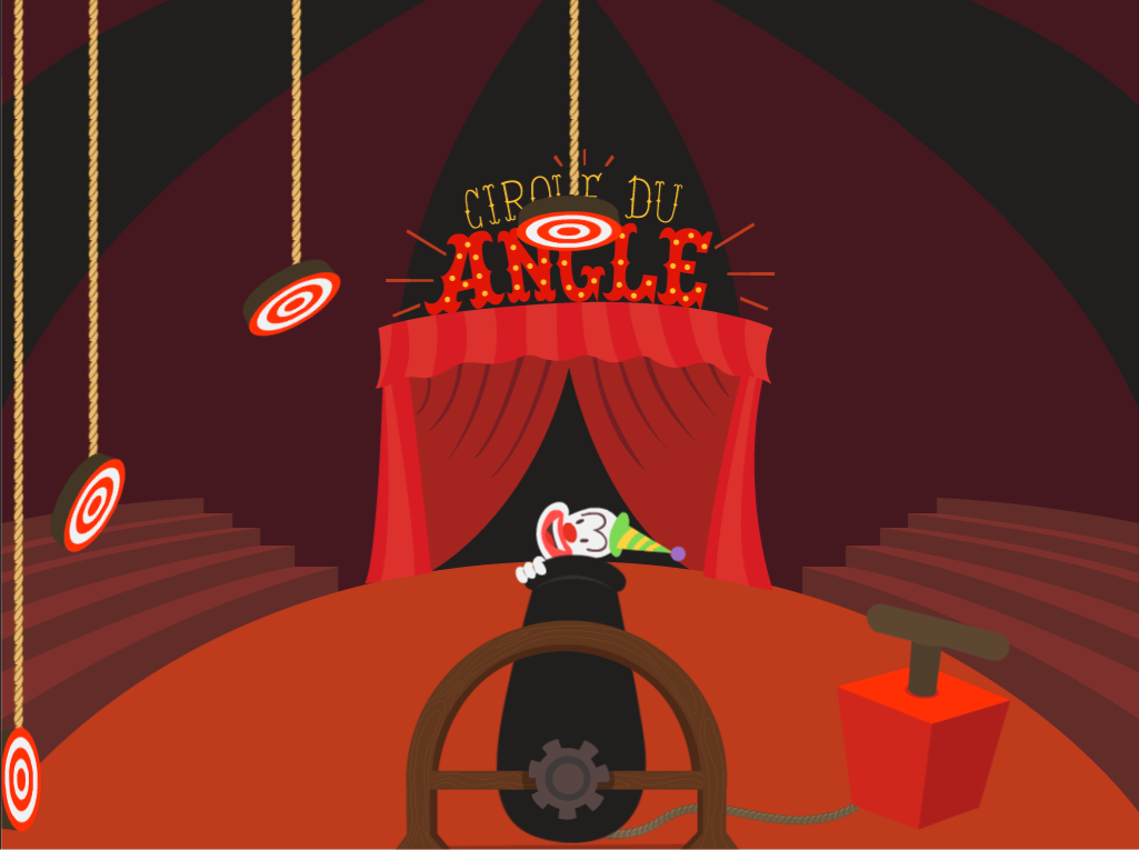 4th grade Math Games: Circus Angle Measurement