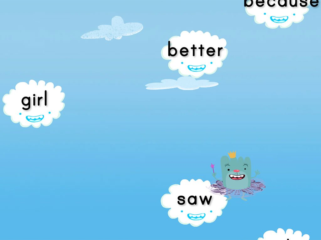1st grade Reading & Writing Games: Cloud Catcher 1st Grade Sight Words Set 2