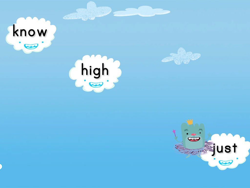 1st grade Reading & Writing Games: Cloud Catcher 1st Grade Sight Words