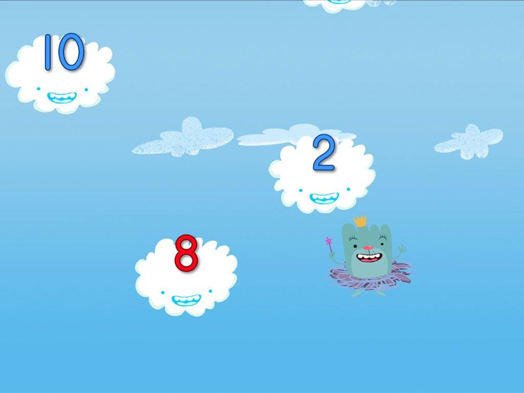 preschool Math Games: Cloud Catcher Numbers 1-10