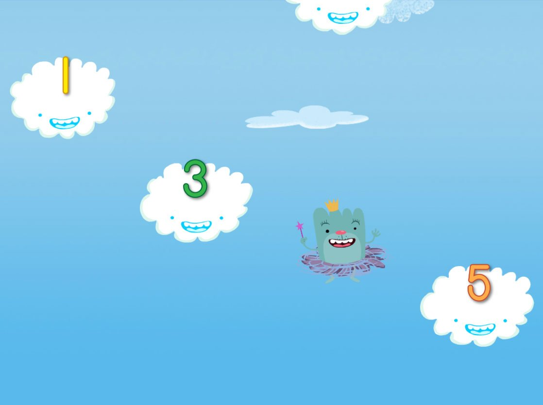 Preschool Math Games: Cloud Catcher Numbers 1-5