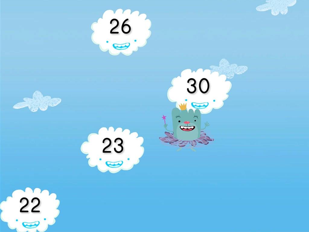 Kindergarten Math Games: Cloud Catcher Numbers 20-30