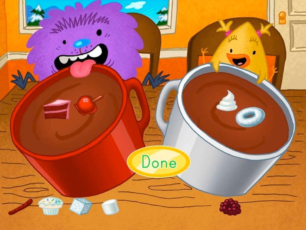 Preschool Math Games: Cocoa Color Sorting