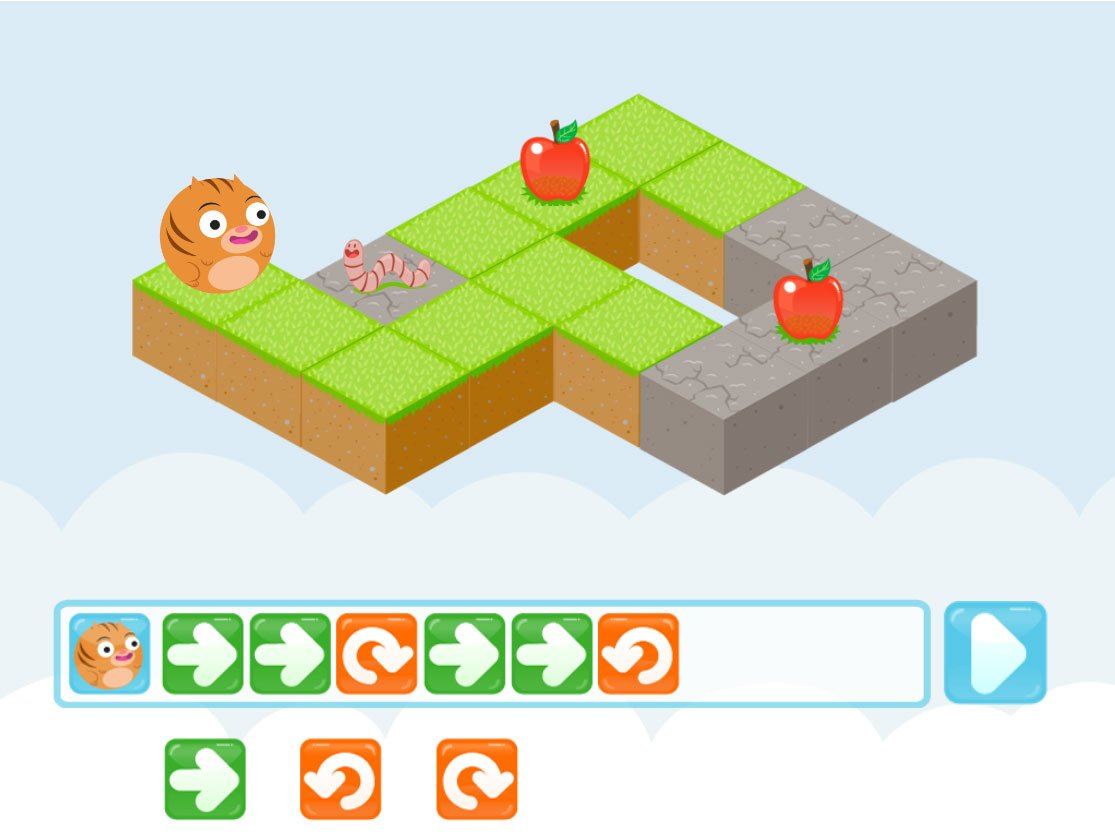 Kindergarten Coding Games Games: Roly's Coding Game: Cody