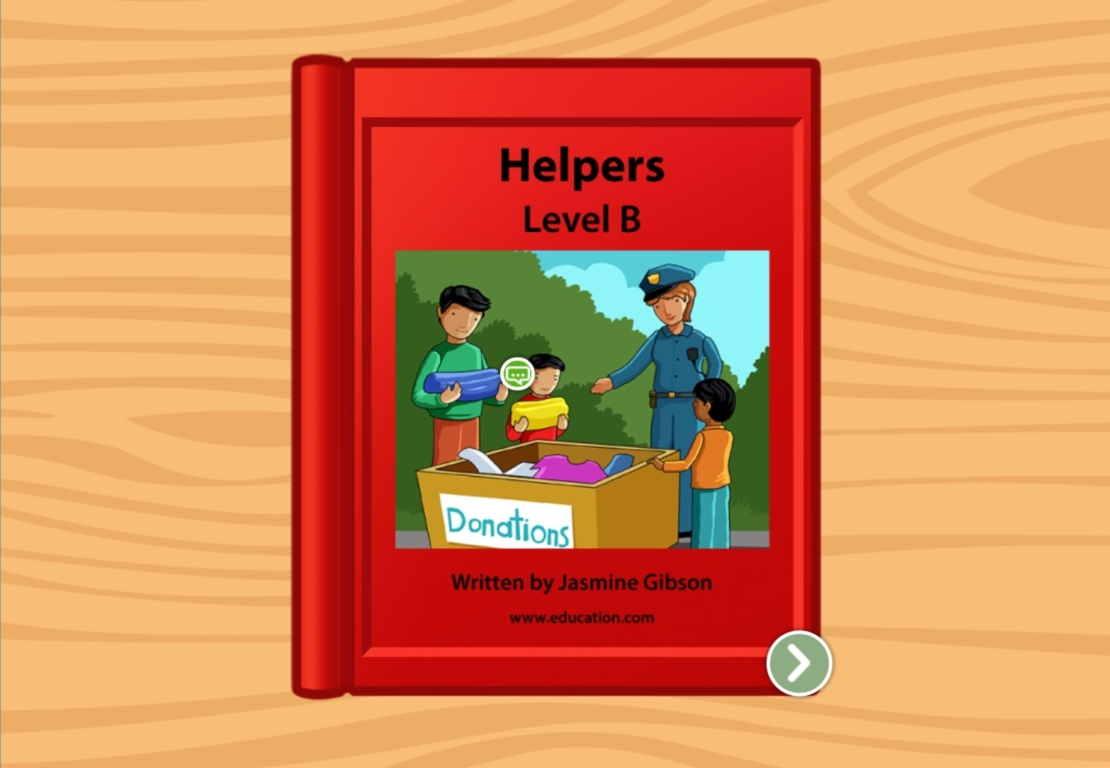 Kindergarten Reading & Writing Stories: Community Helpers: Level B