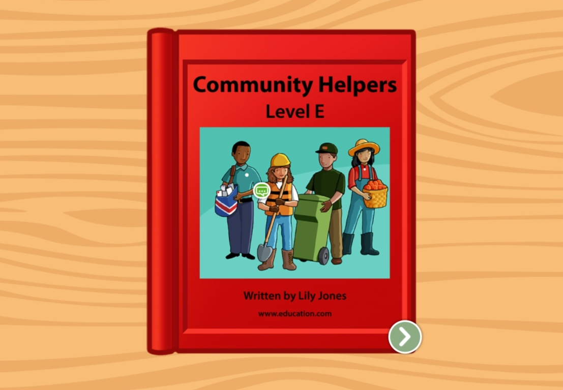 1st grade Reading & Writing Stories: Community Helpers: Level E