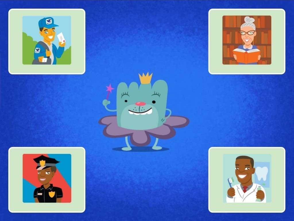 Preschool Reading & Writing Games: Community Helpers Quiz