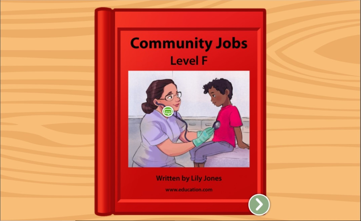 1st grade Reading & Writing Stories: Community Jobs: Level F