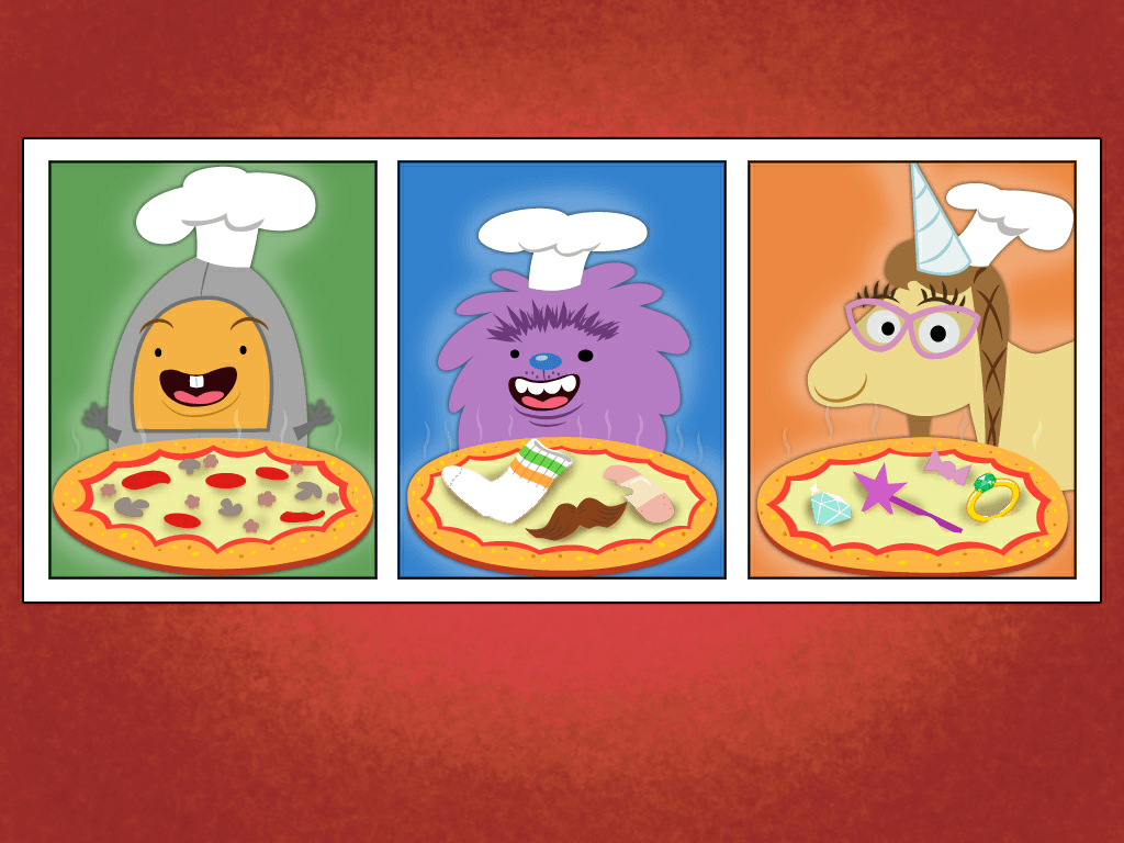 kindergarten Math Games: Counting Pizza Party 2