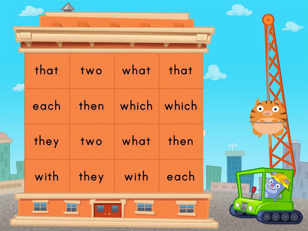 kindergarten Reading & Writing Games: Digraphs Demolition