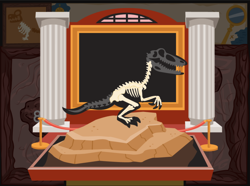 3rd grade Math Games: Dino Bones: Equations With the Same Product
