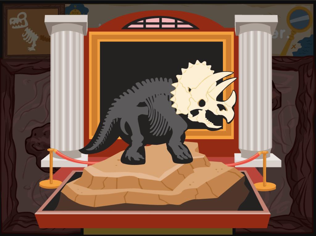 4th grade Math Games: Dino Bones: Prime Numbers