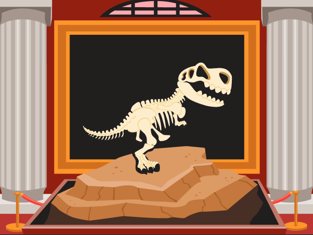 5th grade Math Games: Dino Bones: Word Problems With Multiplying Mixed Numbers