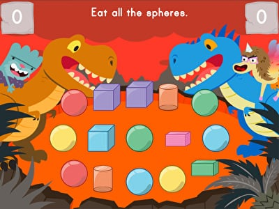 Dino Crunch: 3D Shapes