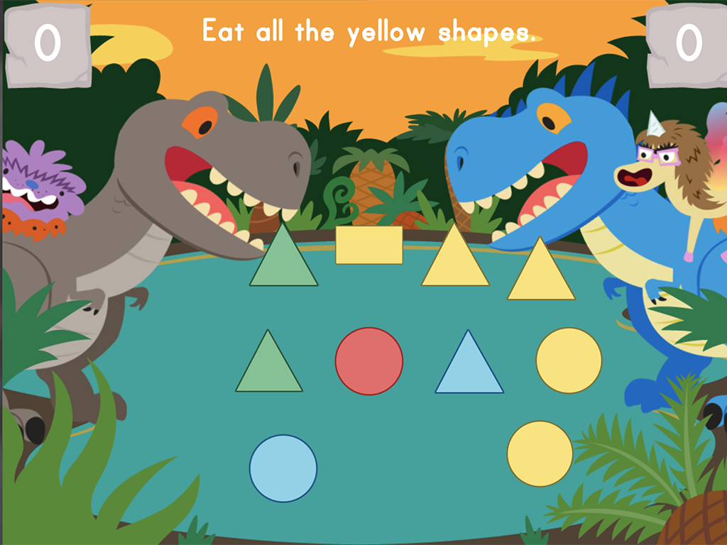 Preschool Math Games: Dino Crunch: Colors