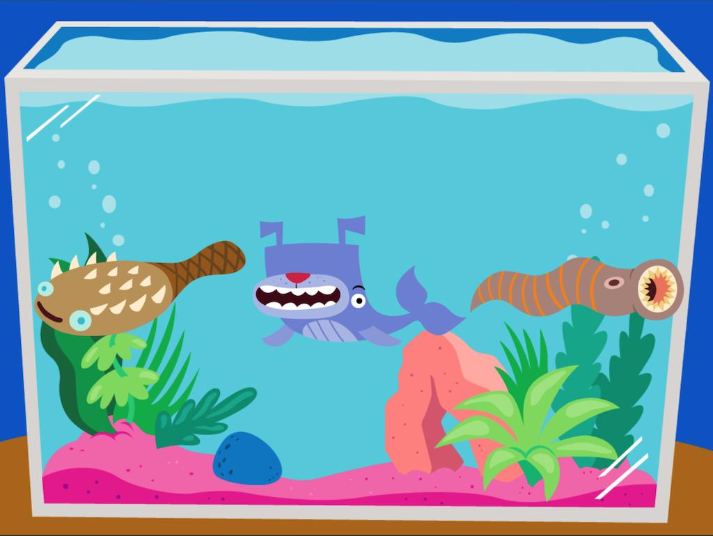 3rd grade Math Games: Dino Fishing: Multiplication Word Problems