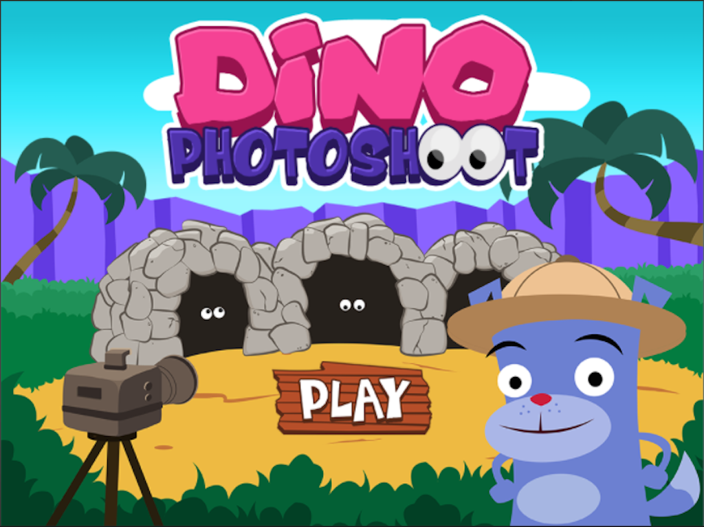 1st grade Math Games: Dino Photoshoot: Two-Digit Addition Within 20