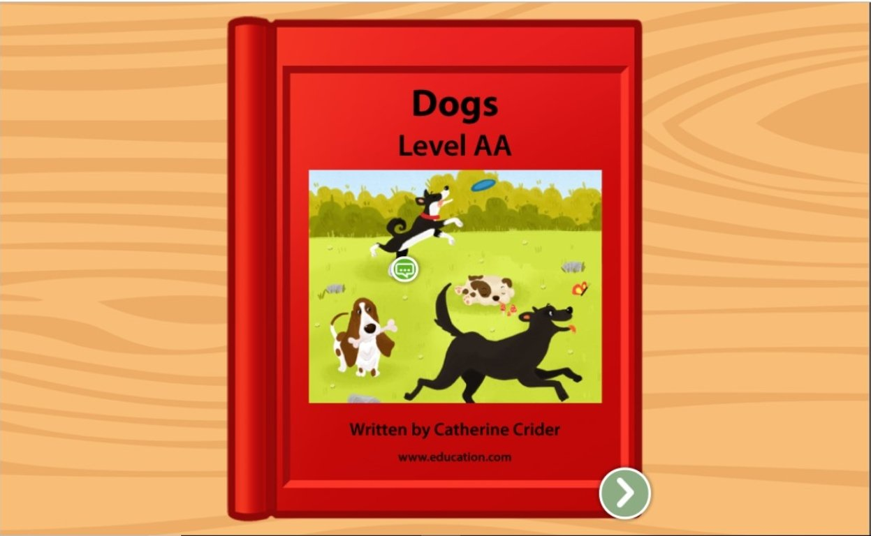 preschool Reading & Writing Stories: Dogs: Level AA