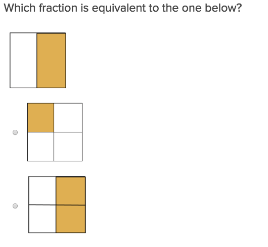 3rd grade Math Exercises: Equivalent Fractions 1