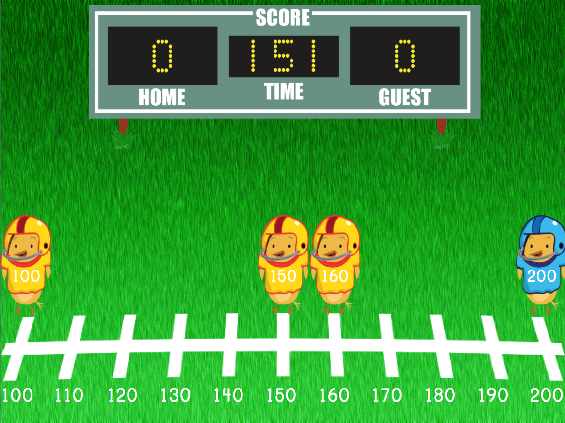 3rd grade Math Games: Rounding Three-Digit Numbers Football