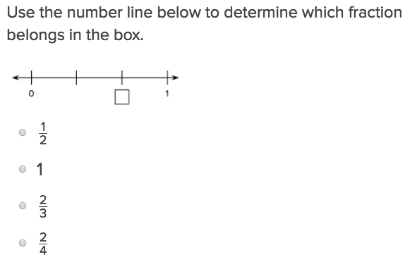4th grade Math Exercises: Fractions on a Number Line 2
