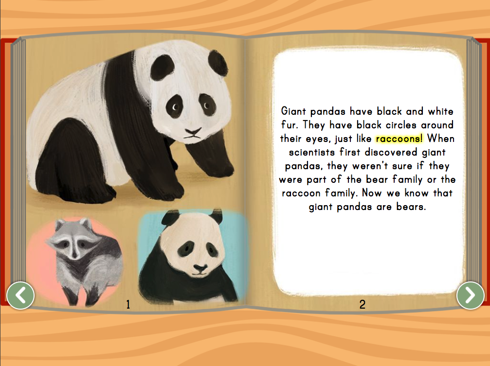Kindergarten Reading & Writing Stories: Giant Pandas Story