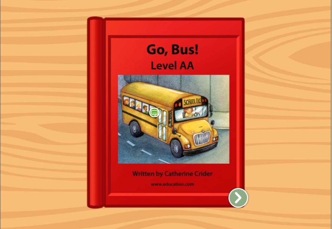 preschool Reading & Writing Stories: Go, Bus! Level AA