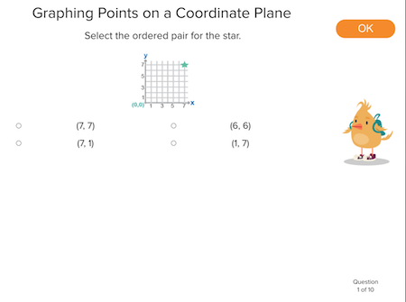 5th grade Math Exercises: Graphing Points on a Coordinate Plane
