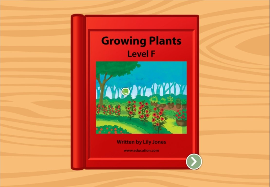 1st grade Reading & Writing Stories: Growing Plants: Level F
