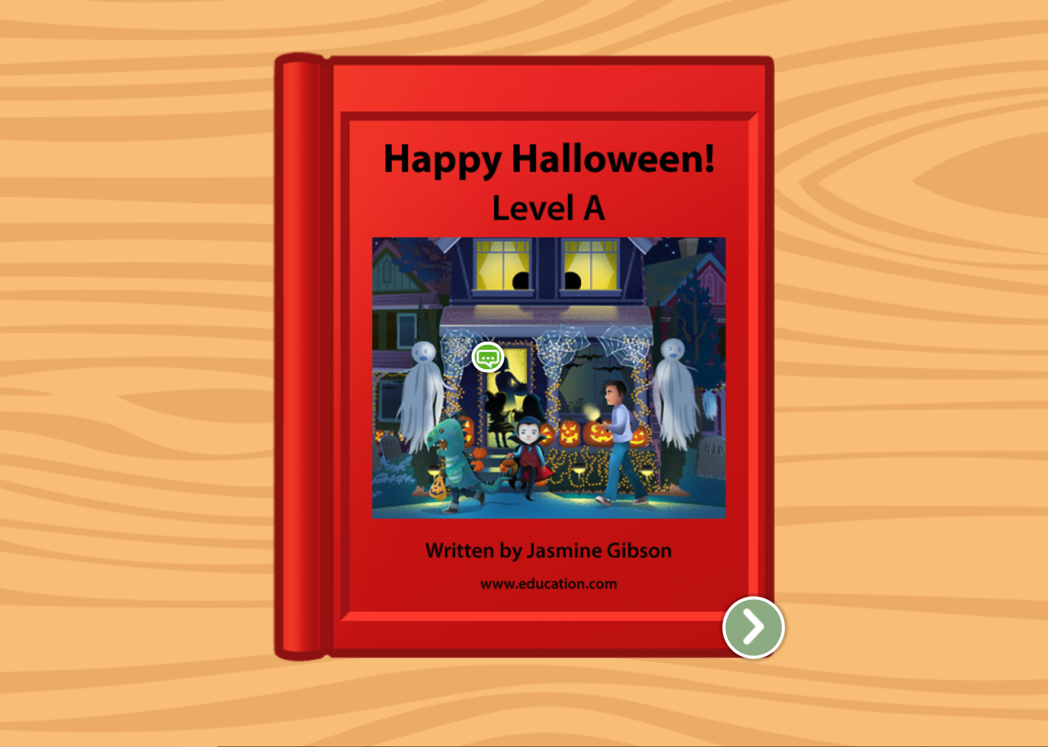 Preschool Reading & Writing Stories: Happy Halloween!: Level A