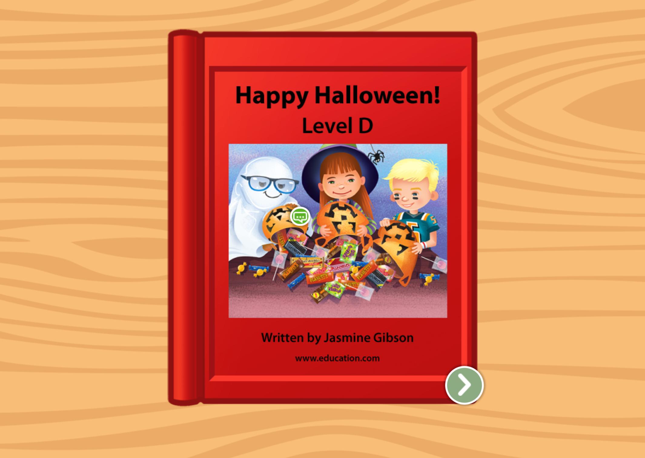Kindergarten Reading & Writing Stories: Happy Halloween: Level D