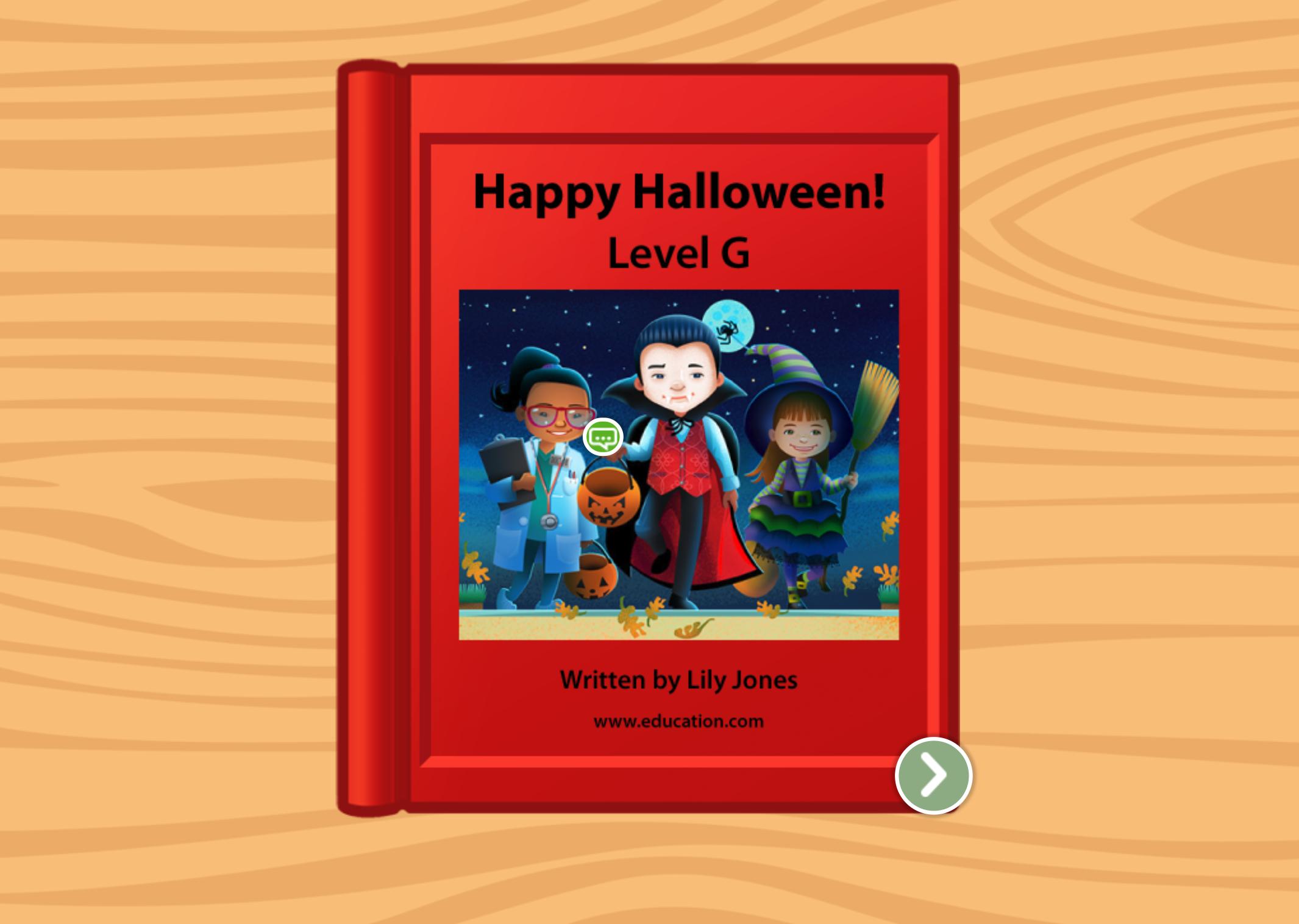 1st grade Reading & Writing Stories: Happy Halloween: Level G