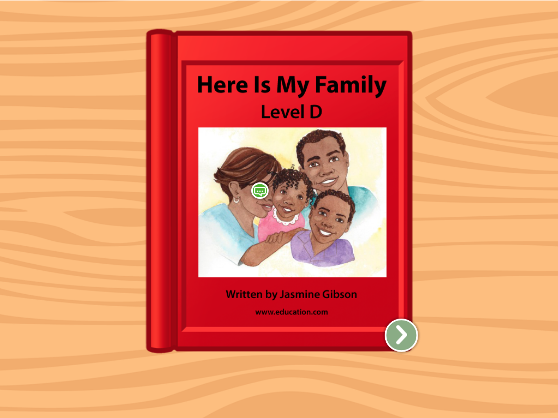 Preschool Reading & Writing Stories: Here is My Family: Level D