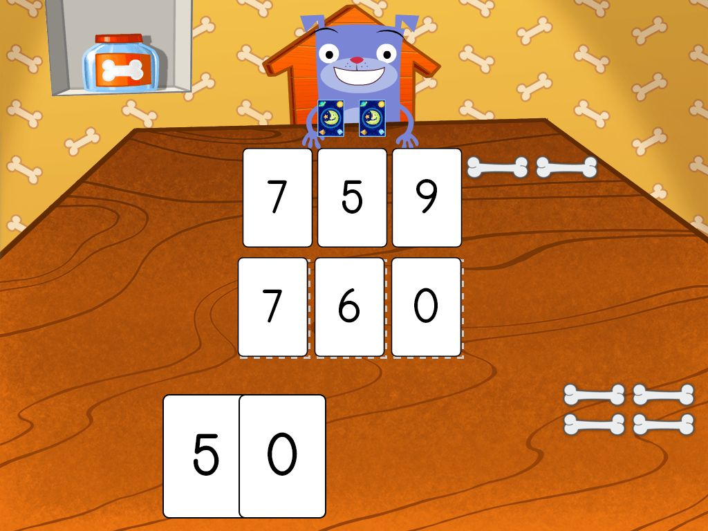 1st grade Math Games: Higher Numbers Card