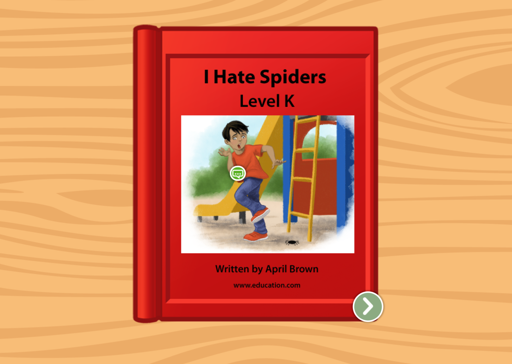 2nd grade Reading & Writing Stories: I Hate Spiders: Level K